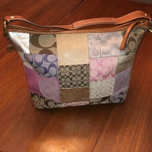 Used Coach patchwork hobo bag